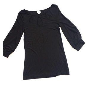 Anthropologie 9-H15 STCL Black T-Shirt